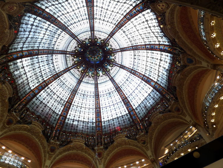 Paris Architecture Cupola Tourism EyeEm Selects Indoors  Galeries Lafayette