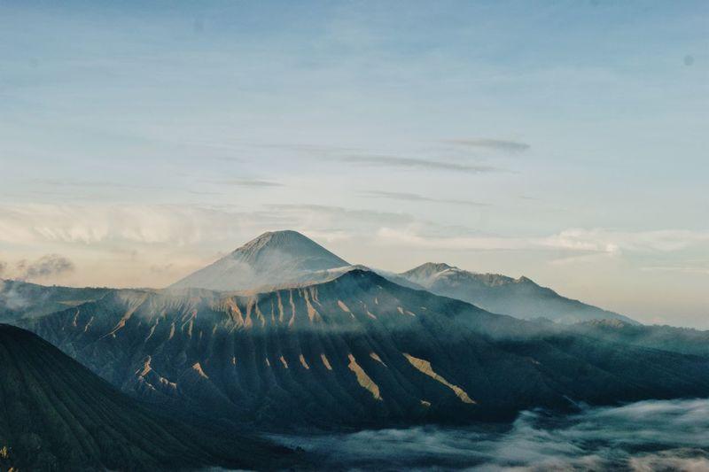 Bromo mountain at jawa timur, indonesia.