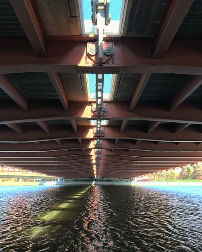 Under the Bridge Frederick Douglass And Susan B Anthony Bridge Genesee River Rochester, NY Day River Structure Light And Shadow Under The Bridge Water Architecture Illuminated Built Structure No People Transportation Reflection Bridge Bridge - Man Made Structure Diminishing Perspective City