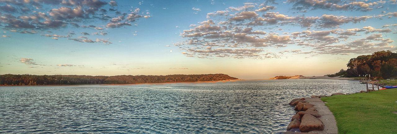 sunset at the coast Holiday Panorama Peaceful No People Lake Travel Australia Australian Landscape Sky Cloud - Sky Shore Postcard Horizon Over Water Tranquil Scene Scenics Tranquility Coast Sandy Beach Ocean Sea