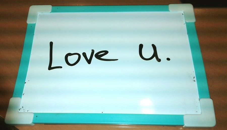 Message on cyan Text Communication Close-up Handwriting  Note - Message No People