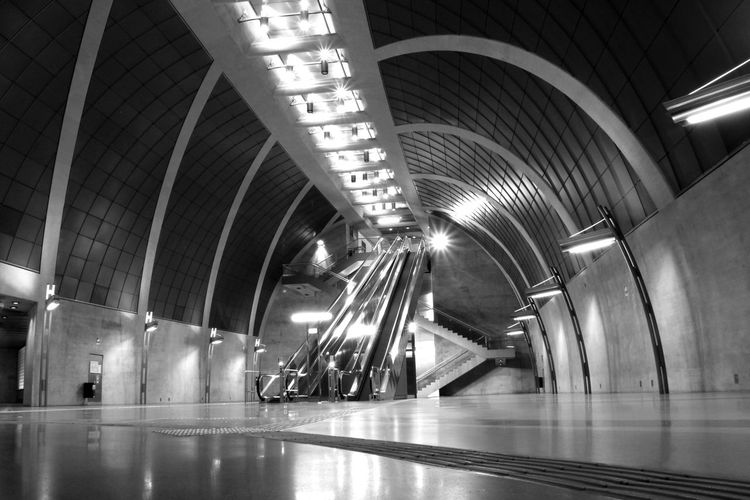 Cologne Germany Blackandwhite City Illuminated Modern Subway Station Arch Lighting Equipment Architecture Built Structure Travel Underground Walkway Subway Platform Subway Train Underground Stairway Hand Rail Steps And Staircases Transportation Building - Type Of Building Escalator Spiral Staircase Subway Underpass #urbanana: The Urban Playground