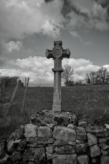 Croix Blackandwhite Photography Black And White Black&white Sainte Radegonde Aveyron Cross Crossofchrist Countryside