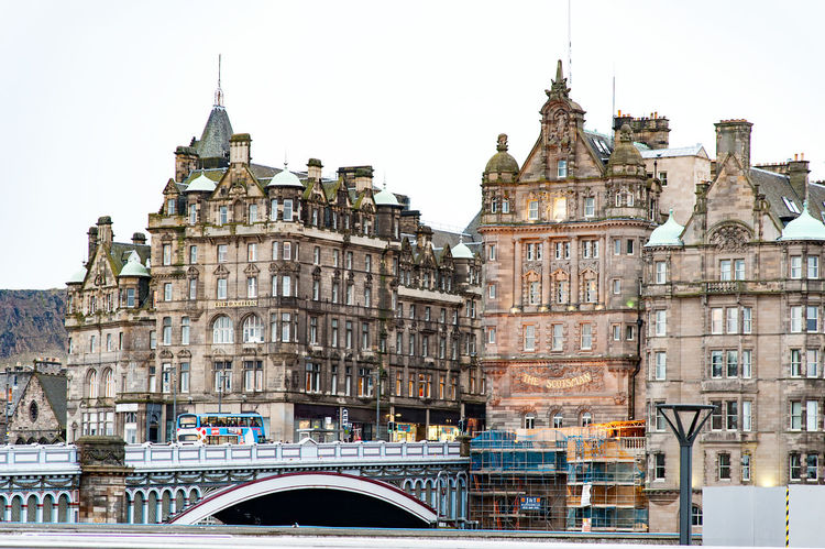 Edinburgh, Views of the city, several monuments and the Castle, Scotland, UK Architecture Building Exterior City City Life Cityscape Clear Sky Clock Clock Tower Day Façade No People Outdoors Sky Tourism Travel Travel Destinations Urban Skyline