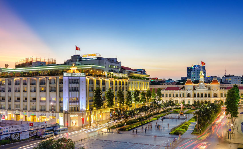 Architecture Building Exterior Building Feature Built Structure City Cityscape Dusk Flag Government Human Eye Illuminated Long Exposure Night Outdoors People Politics And Government Sky Tourism Traffic Travel Travel Destinations Urban Skyline