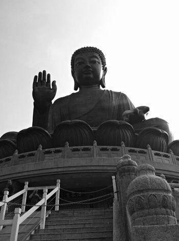 天壇大佛 @ 寶蓮禪寺 Look Up Big Buddha Lantau Island Discover Hong Kong Hello World EyeEm Gallery ASIA EyeEm Hong Kong I Love Hong Kong Wandering Around Aimlessly Wanderlust Wanderer Beautiful Day Relaxing Heal The World Black & White EyeEm Black&white! Monochrome