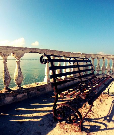 Empty pier on sea