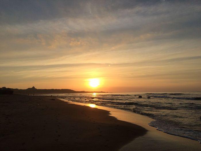 意外的收穫 Beach Sea Sunset Land Water Scenics - Nature Beauty In Nature No People Tranquil Scene