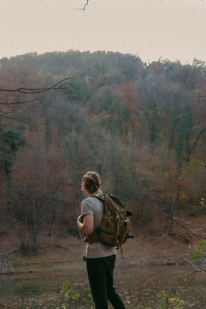 #Adventure #Mountain #Nature  #adventure Photography #hike #hiking #portrait Day Forest Landscape Nature Outdoors Real People Rear View Standing