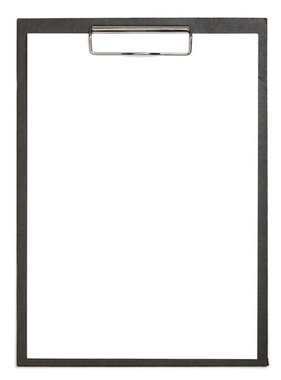 Framed At The Edge Of Black Color Blank Clip Board Communication Copy Space Cut Out Empty Frame Man Made Man Made Object Metal Paper Picture Frame White Background White Color