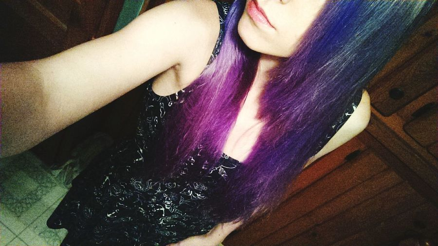 Haircolor Change Purple ♥ Purple Hair Thats Me  School Tomorrow :( ♥ Pretty Cute Bored