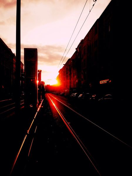 Sunset Tram Street Photography I ❤ BERLIN