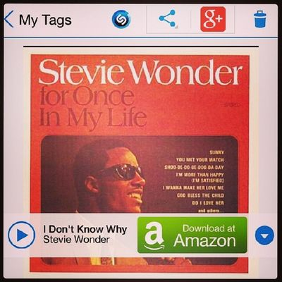 I love you StevieWonder . My Songoftheday - I Don't Know Why Nowplaying (How I truly feel) StoryOfMyLife