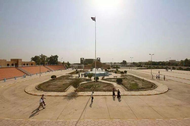 ساحة الاحتفالات في جامعة تكريت