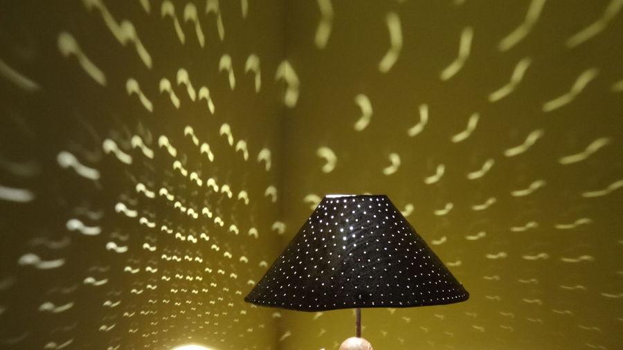 Close-up of illuminated lamp