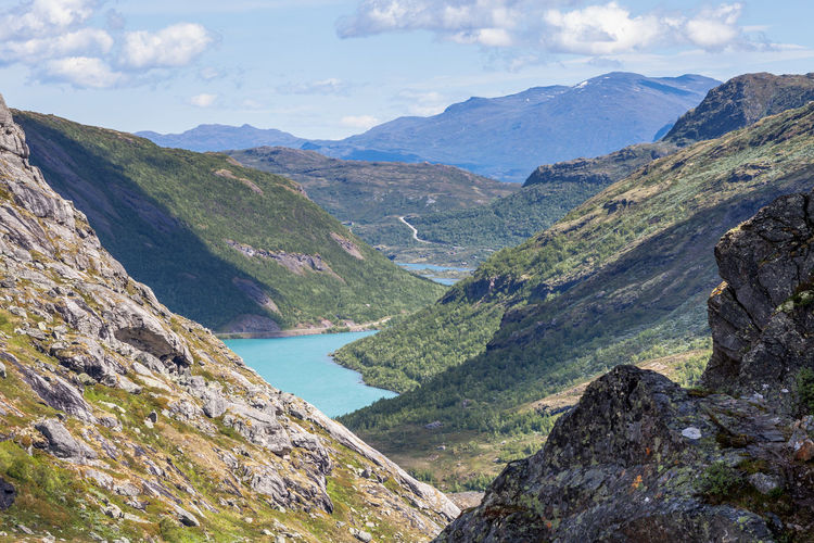 Scenic View Of Mountains At Jotunheimen National Park