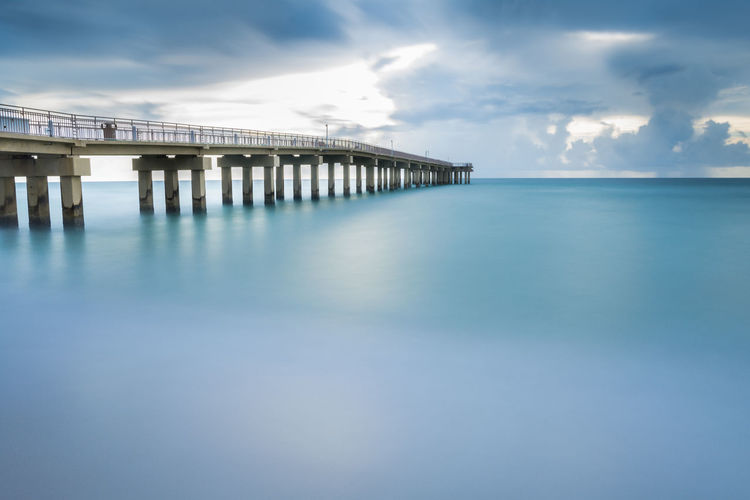 Architectural Column Architecture Blue Bridge Bridge - Man Made Structure Built Structure Cloud - Sky Connection Day Horizon Over Water Long Nature No People Outdoors Pier Scenics - Nature Sea Sky Tranquil Scene Tranquility Turquoise Colored Water Waterfront