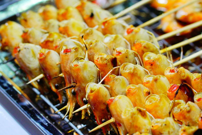 Food And Drink Establishment Market Barbecue Heat - Temperature Seafood Business Finance And Industry Preparation  Asian Food Market Stall Chinese Food Street Food