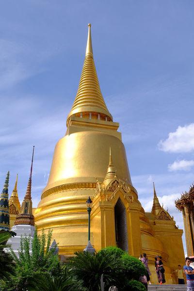 Wat Phra Kaeo temple , landmark of Thailand Ancient Architecture Art Building History Landmark Old Pagoda Religion Royal Royal Palace Temple Thai Architecture Thai Art Tourism Tourists Travel Wat Phra Kaeo