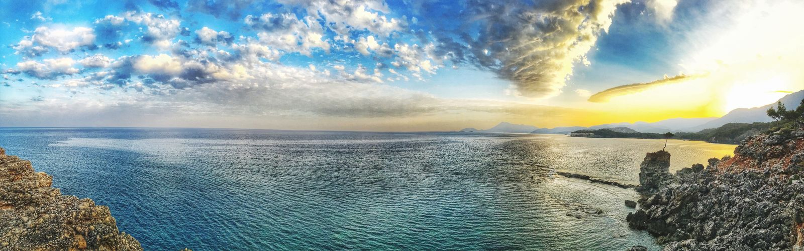 Beauty In Nature Scenics Water Nature Sky Cloud - Sky Sea Tranquil Scene Tranquility Idyllic Outdoors Mountain Tree Day Beach No People Horizon Over Water Phaselis