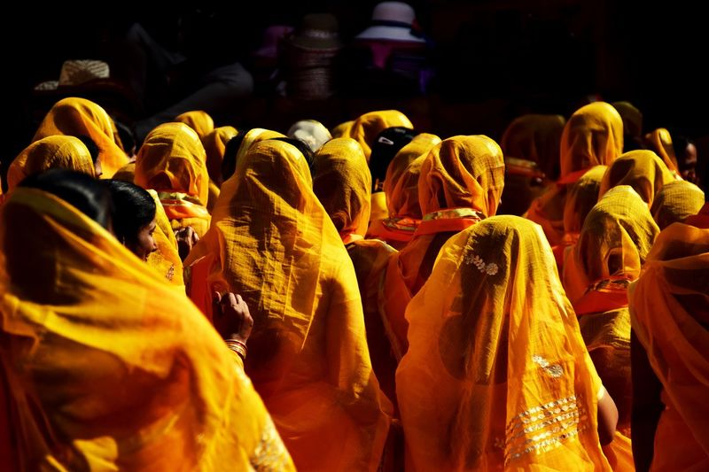 it's true - india is a very colourful country Love DSLR Photography MyTripMyAdventure Spirit Temple Women Travel Colourful India Prayers EyeEmNewHere Orange Spirituality Large Group Of People Real People Yellow Night Indoors  People Be. Ready. EyeEmNewHere EyeEmNewHere