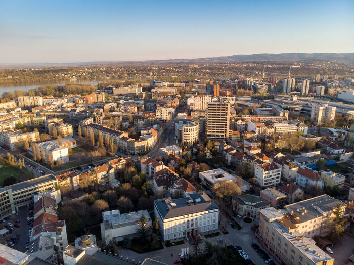 Building Exterior Architecture Built Structure Cityscape City High Angle View Sky Building Crowd Residential District Crowded Nature Day Aerial View Travel Destinations Clear Sky Outdoors Horizon Sunlight Novisad Novi Sad Vojvodina Serbia Europe Tourism