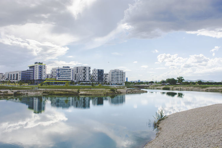 Seestadt Aspern Cityscape Nature Seestadt Aspern Vienna Blue Blue Sky Clouds And Sky Concept Day Environment Future Lake Lake View Outdoors Reflections Seestadt Sun Wien