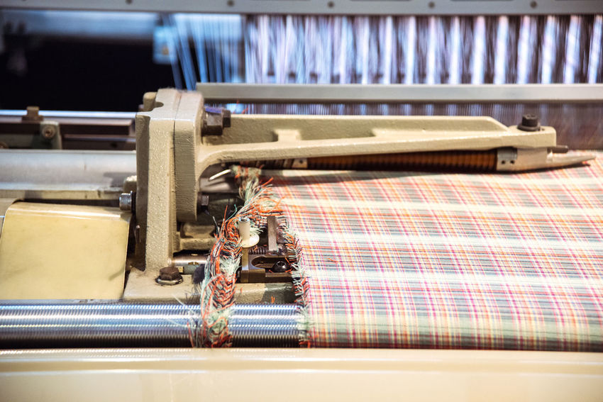 At the Toyota Museum in Nagoya, Japan Close-up Fabric Loom Machinery Selective Focus Tailored To You Tapestry Textile Textile Industry Textile Machinery Weaving Loom Weaving Machine Ultimate Japan