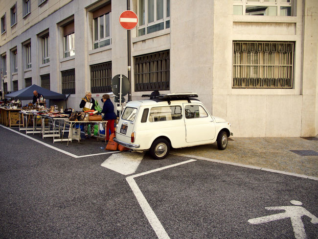 Autobianchi Trieste, Italy Architecture Building Building Exterior Built Structure Car City Color Day Government Group Of People Incidental People Land Vehicle Men Mode Of Transportation Motor Vehicle Outdoors People Real People Road Sign Street Transportation Ursus Trieste Women