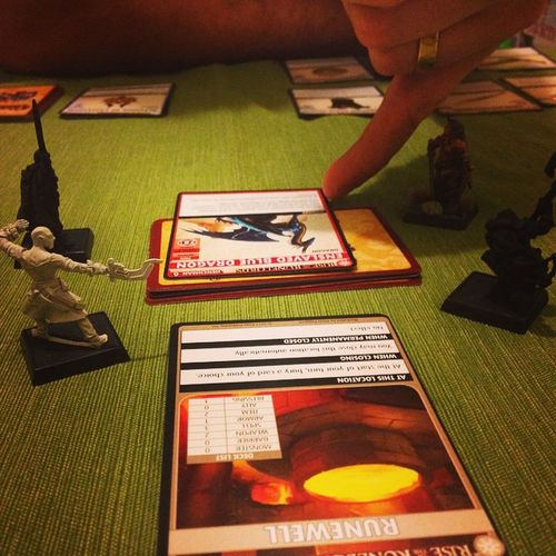 It boils down to this Runewell Pathfinder Boardgames Adventurecardgame Sajan Harsk Seelah Valeros Stillpainting