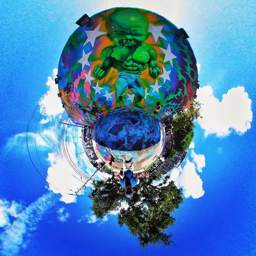 360photo 360view 360° 360 Degree Art Multi Colored Digital Composite Blue Space Sky No People Shape Science Nature Cloud - Sky Close-up Sphere Creativity Circle Geometric Shape Abstract Outdoors Directly Below EyeEmNewHere