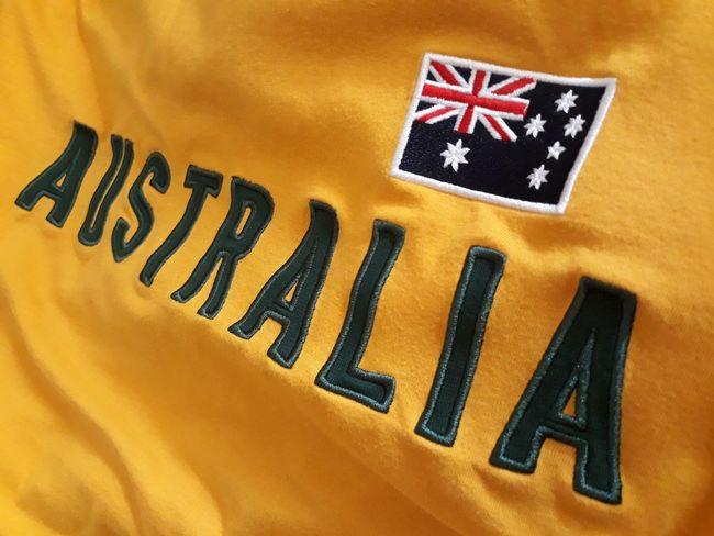 Australia 🇦🇺🌏🐨💛 Text Yellow Close-up