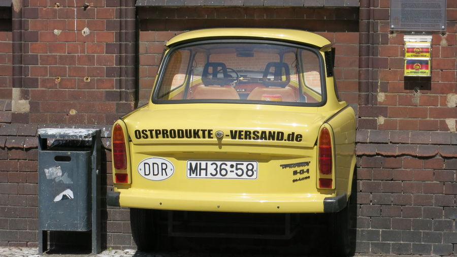 Brick Building Car DDR No People Ostprodukte Trabant Trabant 500 Trabbi Wall Wastepaperbasket