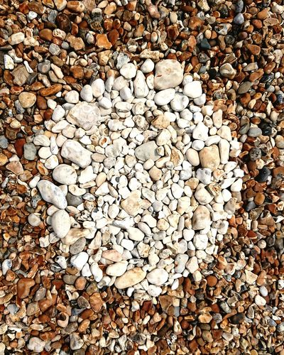 Circle Beach Art White Hayling Island  Pebble Beach Backgrounds Full Frame Pebble Beach Close-up Geometric Shape Circular