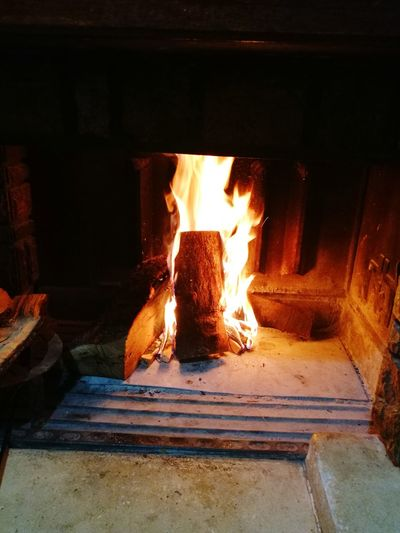 Heat - Temperature Burning Flame Glowing No People Fireplace Oven