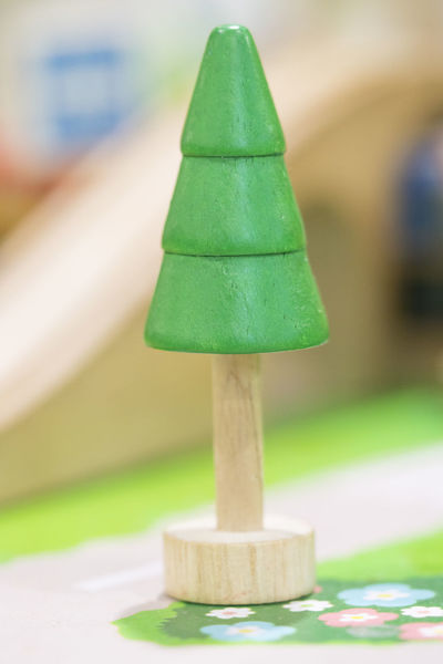 Woody toy tree - Play set Educational toys for preschool indoor playground(selective focus) Green Color Focus On Foreground Close-up No People Selective Focus Outdoors Wood - Material In A Row Nature Creativity Wooden Toy Wooden Toy Block Tree Model