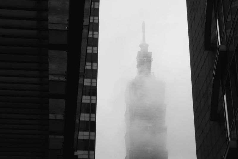 Taipei 101 in a mist. Architecture Building Exterior Tower Outdoors City Built Structure The Week On EyeEem Phone Photography EyeEm Taiwan Travel Destinations My Year My View