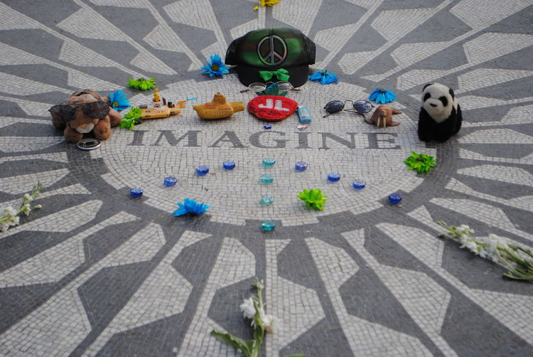 Beatles Central Park Lennon New York Beatles Inspiration Day High Angle View Imagine No People Outdoors Shadow Sunlight