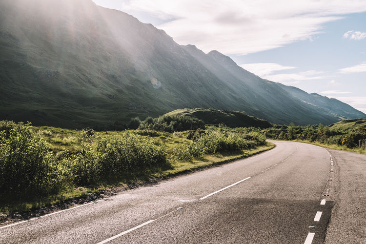 Beauty In Nature Day Landscape Mountain Nature No People Outdoors Road Scenics Scotland Sky The Way Forward Tranquility Transportation Tree