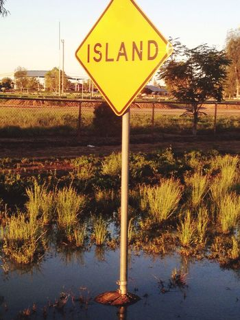 Sign Road Sign Funny Literally Island