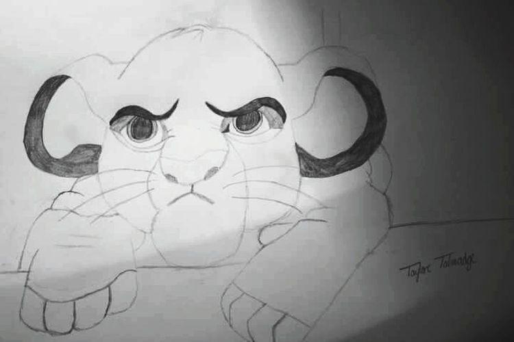 ArtWork Art Drawing Drawings Simba Lion King