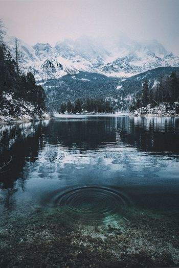 Eibsee Germany EyeEmNewHere Nature_collection Water Winter Tree Beauty In Nature Snow Cold Temperature Scenics - Nature Nature No People Sky Lake Day Tranquility Mountain Outdoors Snowcapped Mountain Reflection Tranquil Scene Plant Coniferous Tree