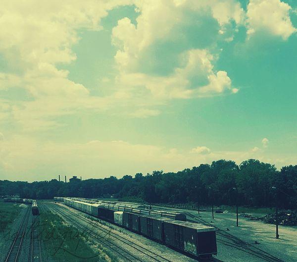 The Week On EyeEm Tree Cloud - Sky Sky No People Outdoors Day Nature Supermarket Trainscape  Missouri  Mo Still Life Trains Trainspotting