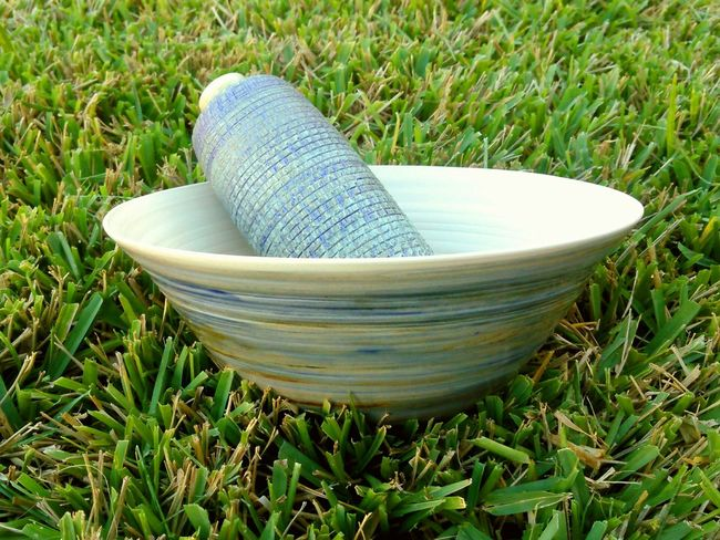 Handmade Pottery Blues Grass Pottery Made By a Good Friend Badger