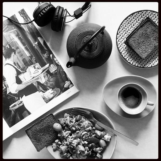 Breakfast Blackandwhite Monochrome