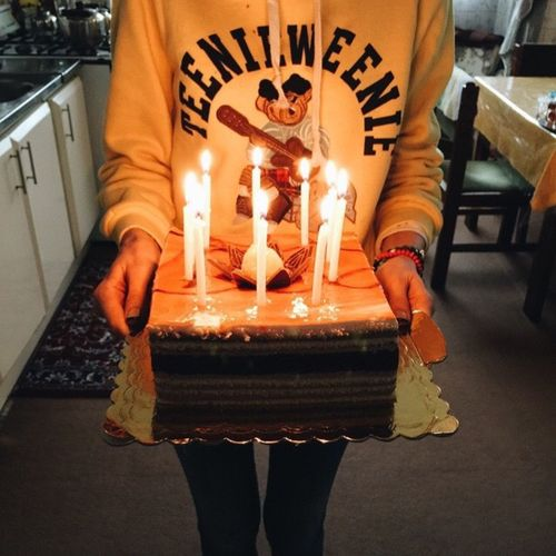 Happy birthday,wish you best🎉🌬🍃🍂🙏🏻 HappyBirthday Happy Cake Littlepartyneverkillednobody Vscocam IPhoneography Sahar Iranian Persian LastDay LastNight Food