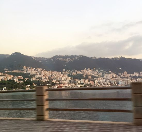 Panoramic view on the way to Tripoli, North Lebanon Mobile Street Photography Check It Out The Place I'm Now Hello World Nice Shot Sea View Sky And Sea