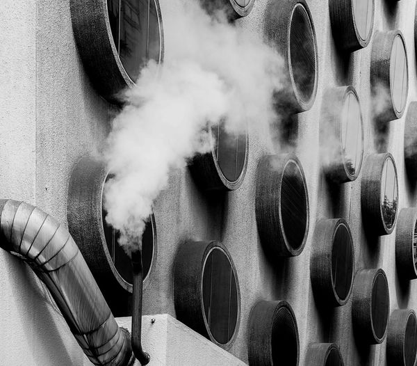 an architect pattern Exterior Wall Close-up Day Design No People Pattern Pipe - Tube Smoke - Physical Structure Fresh On Market 2017