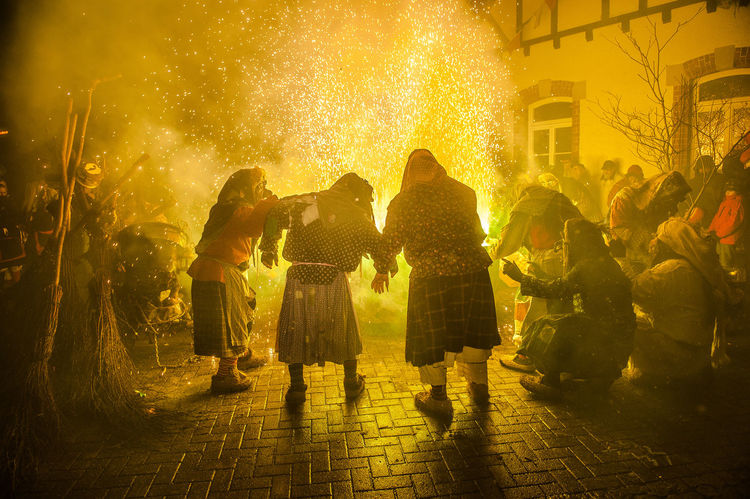 Darkness Fire Folklore Southern Germany Swabian-Alemannic-Carnival Torches Tradition Tübingen Bühl Witch Dance Witches Äscha Deita