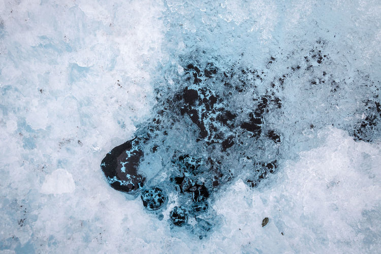Abstract Climate Change Close Up Cold Temperature Directly Above Frozen Glacier Global Warming High Angle View Ice Ice Age Ice Crystal Lyngen Alps Melting Nature No People Northern Norway Norway Outdoors Overhead View Strupbreen Water Weather